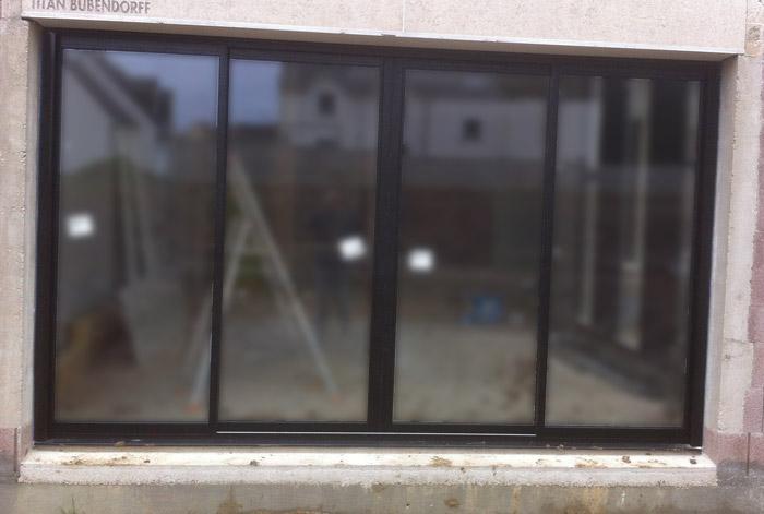 Baie vitrée 4 vantaux
