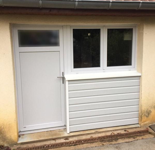 Fenêtre et porte PVC, bardage Bois
